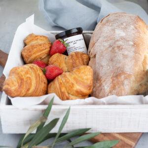 Breakfast Box | Yallingup Gugelhupf Bakery | Margaret River Region | Croissants, Crunch Preserves Jam, Yallingup Woodfired Bread. #yallingupbread #yallingupbakery #yallingupwoodfiredbread